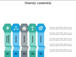 Diversity Leadership Ppt Powerpoint Presentation Icon Graphics Cpb