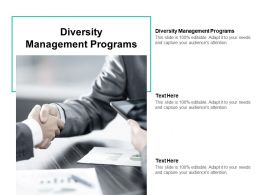 Diversity Management Programs Ppt Powerpoint Presentation Gallery Clipart Cpb
