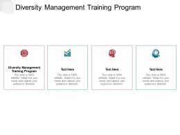 Diversity Management Training Program Ppt Powerpoint Presentation File Introduction Cpb