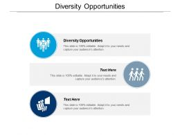 Diversity Opportunities Ppt Powerpoint Presentation Icon Graphic Tips Cpb