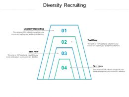 Diversity Recruiting Ppt Powerpoint Presentation Outline Styles Cpb