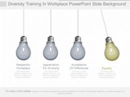Diversity Training In Workplace Powerpoint Slide Background