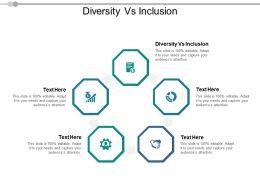 Diversity Vs Inclusion Ppt Powerpoint Presentation Portfolio Pictures Cpb