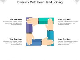 Diversity With Four Hand Joining