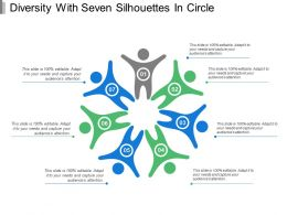 Diversity With Seven Silhouettes In Circle