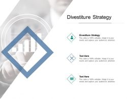 Divestiture Strategy Ppt Powerpoint Presentation Summary Slides Cpb