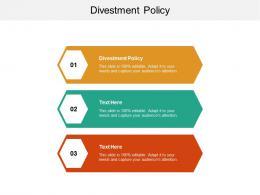 Divestment Policy Ppt Powerpoint Presentation Portfolio Maker Cpb