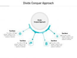 Divide Conquer Approach Ppt Powerpoint Presentation Layouts Example Cpb