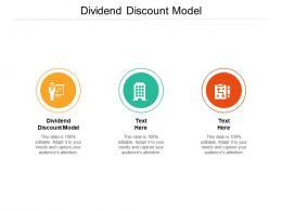 Dividend Discount Model Ppt Powerpoint Presentation Portfolio Background Images Cpb
