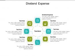 Dividend Expense Ppt Powerpoint Presentation Model Images Cpb