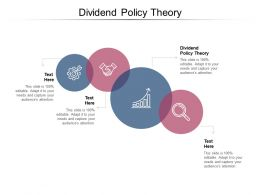 Dividend Policy Theory Ppt Powerpoint Presentation Infographics Images Cpb