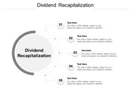 Dividend Recapitalization Ppt Powerpoint Presentation Infographic Template Example 2015 Cpb