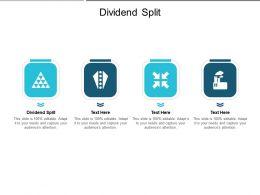 Dividend Split Ppt Powerpoint Presentation Infographics Background Image Cpb