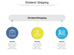 Dividend Stripping Ppt Powerpoint Presentation Styles Themes Cpb