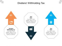Dividend Withholding Tax Ppt Powerpoint Presentation Summary Cpb