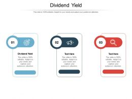 Dividend Yield Ppt Powerpoint Presentation Inspiration Template Cpb