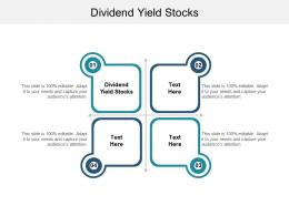 Dividend Yield Stocks Ppt Powerpoint Presentation Show Example Cpb