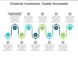 Dividends Investments Taxable Nontaxable Ppt Powerpoint Presentation Styles Graphics Design Cpb