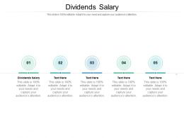 Dividends Salary Ppt Powerpoint Presentation Show Template Cpb