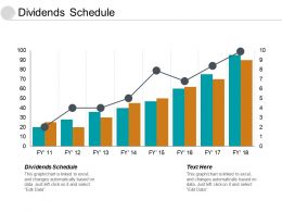 Dividends Schedule Ppt Powerpoint Presentation Slides Elements Cpb