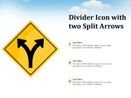 Divider Icon With Two Split Arrows