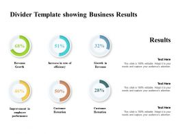 Divider Template Showing Business Results