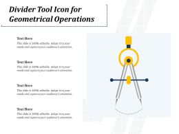 Divider Tool Icon For Geometrical Operations