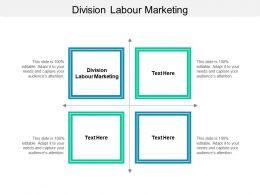Division Labour Marketing Ppt Powerpoint Presentation Slides Graphics Design Cpb