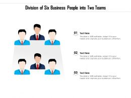 Division Of Six Business People Into Two Teams
