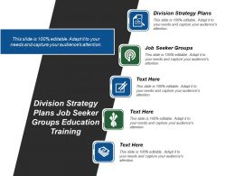 Division Strategy Plans Job Seeker Groups Education Training