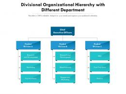 Divisional Organizational Hierarchy With Different Department