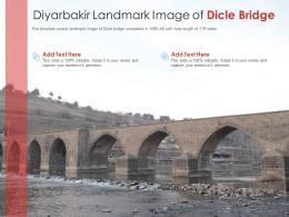 Diyarbakir Landmark Image Of Dicle Bridge Powerpoint Presentation PPT Template
