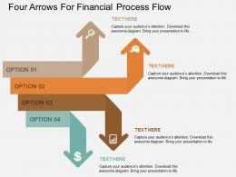 dj Four Arrows For Financial Process Flow Flat Powerpoint Design
