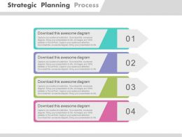 dj Four Tags For Strategic Planning Process Flat Powerpoint Design