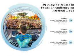 DJ Playing Music In Front Of Audience On Festival Days