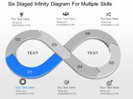 dj Six Staged Infinity Diagram For Multiple Skills Powerpoint Template