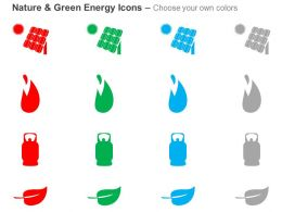 Dj Solar Plant With Cylinder And Leaf For Green Energy Ppt Icons Graphics