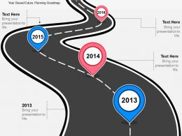 dj Year Based Future Planning Roadmap Flat Powerpoint Design
