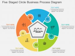 dk Five Staged Circle Business Process Diagram Flat Powerpoint Design