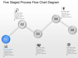 dk Five Staged Process Flow Chart Diagram Powerpoint Template