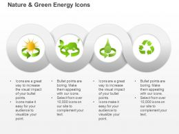 Dk Symbols For Green Energy Production From Sun Water And Waste Ppt Icons Graphics