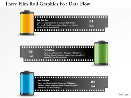 Dk Three Film Roll Graphics For Data Flow Powerpoint Template