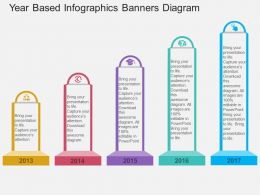 dk Year Based Infographics Banners Diagram Flat Powerpoint Design