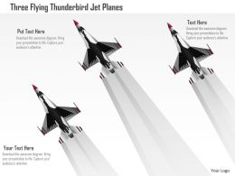 Dl Three Flying Thunderbird Jet Planes Powerpoint Template
