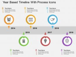 dl Year Based Timeline With Process Icons Flat Powerpoint Design