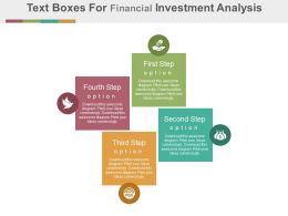 dm Four Text Boxes For Financial Investment Analysis Flat Powerpoint Design
