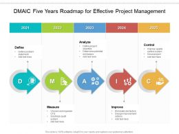 DMAIC Five Years Roadmap For Effective Project Management