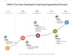 DMAIC Five Years Roadmap For Improving Organizational Process