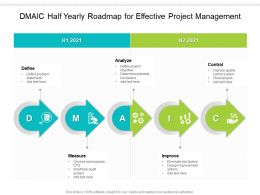 DMAIC Half Yearly Roadmap For Effective Project Management
