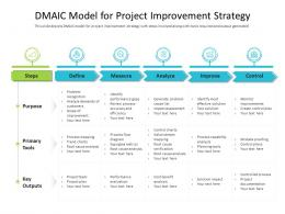 DMAIC Model For Project Improvement Strategy